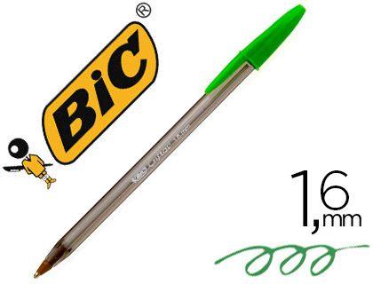 BOLIGRAFO BIC CRISTAL FUN VERDE CL. CJ.20U.