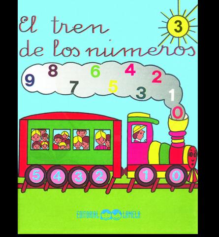 CARTILLA LAMELA EL TREN DE LOS NUMEROS Nº 3