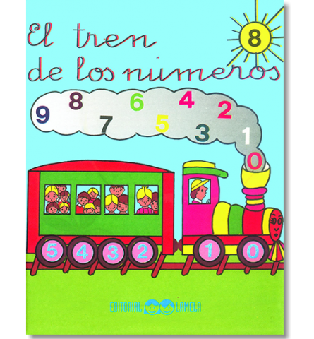 CARTILLA LAMELA EL TREN DE LOS NUMEROS Nº 8
