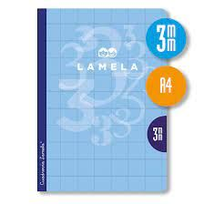 LIBRETA GRAPA LAMELA A4 50H. C/3   5 COLORES
