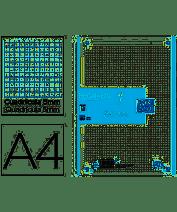 RECAMBIO A4 100H.5X5 90GR. 1 COL.BANDA TURQUES